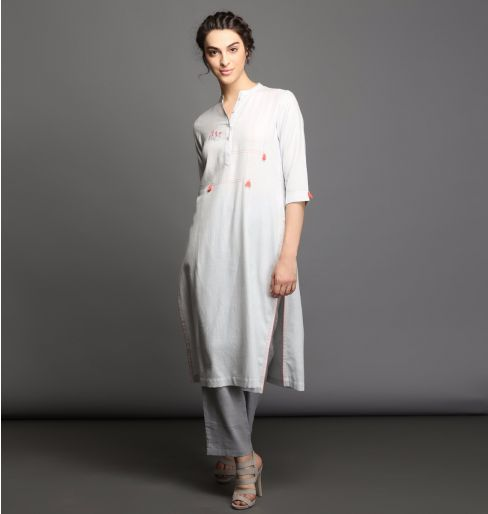 Light grey kurta
