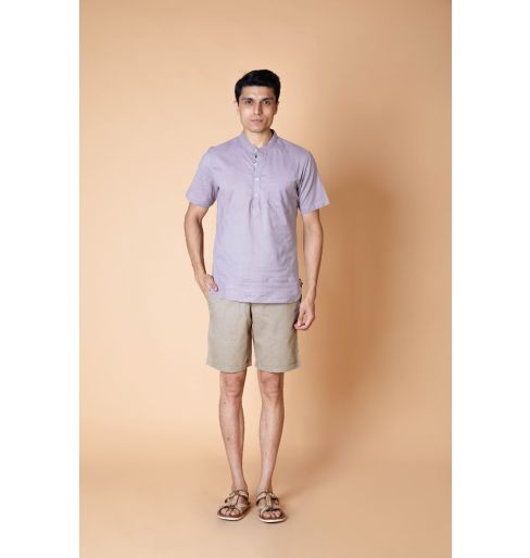 Mud Grey Short Kurta