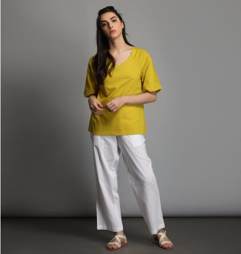 Yellow Raglan Sleeve Top