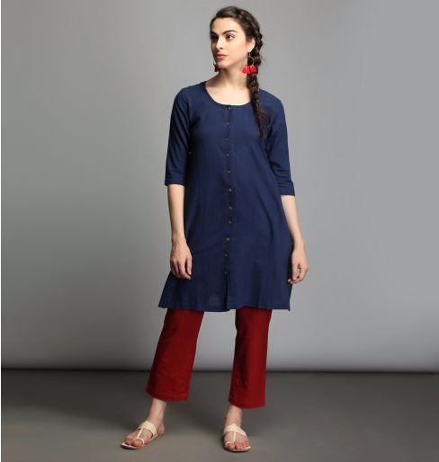 Natural Dye Blue Indigo Tunic