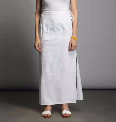 White Wrap around skirt