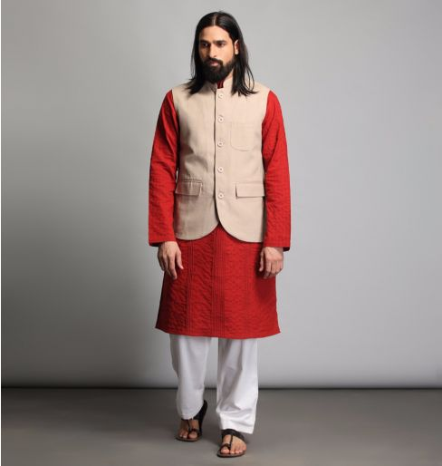 Neutral Nehru Jacket