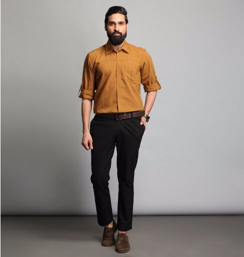 Mustard Full Sleeve Shirt