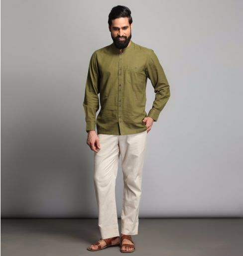 Olive Green Full Sleeve shirt