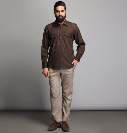 Brown full sleeve shirt
