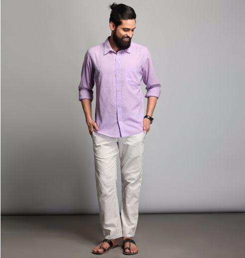 Lilac Full sleeve shirt