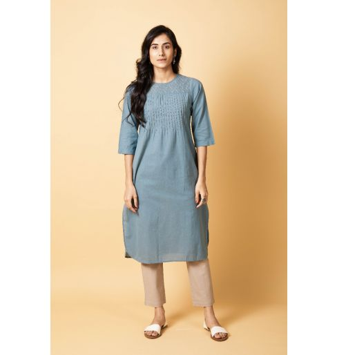 Round Neck Long Kurta