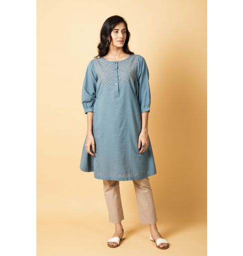 Teal Long Kurta